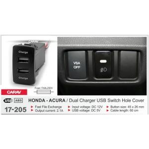 Штатный разъём CARAV 17-205 для Acura, Honda