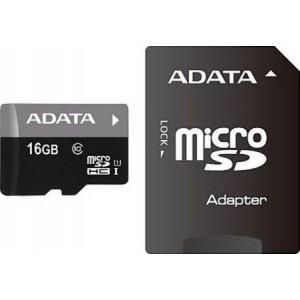 Карта памяти A-DATA MICROSDHC (CLASS 10) 16GB + SD-АДАПТЕР