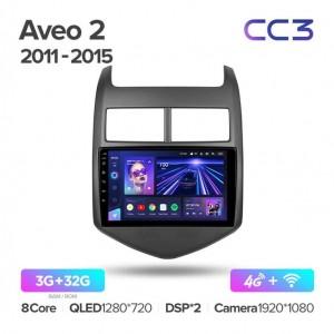 Штатная автомагнитола на Android TEYES CC3 для Chevrolet Aveo 2 2011-2015