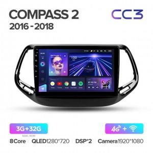 Штатная автомагнитола на Android TEYES CC3 для Jeep Compass 2 MP 2016-2018