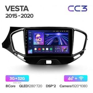Штатная автомагнитола на Android TEYES CC3 для Lada Vesta Cross Sport 2015-2020