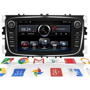 Штатная автомагнитола на Android NONAME для Ford (ЧЕРНАЯ) FOCUS, MONDEO, C-MAX, S-MAX, GALAXY II, KUGA