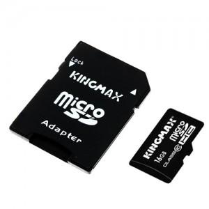 Карта памяти KINGMAX MICROSDHC (CLASS 10) 16GB + АДАПТЕР