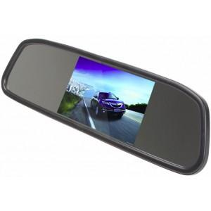 """Автомобильное зеркало заднего вида с 4.3"""" экраном"""