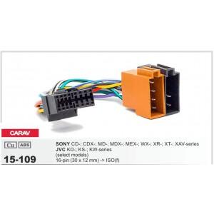 Основной разъём для магнитолы Sony, JVC CARAV 15-109