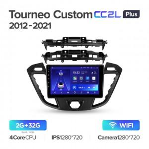 Штатная автомагнитола на Android TEYES CC2L Plus для Ford Tourneo Custom I Transit 2012-2021