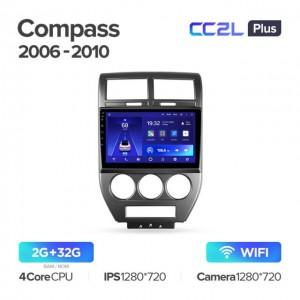 Штатная автомагнитола на Android TEYES CC2L Plus для Jeep Compass 1 MK 2006-2010