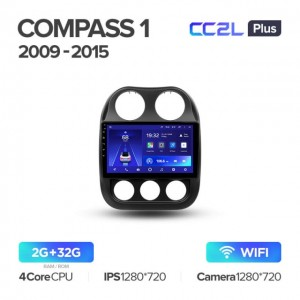 Штатная автомагнитола на Android TEYES CC2L Plus для Jeep Compass 1 MK 2009-2015