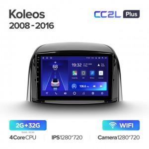 Штатная автомагнитола на Android TEYES CC2L Plus для Renault Koleos 2008-2016