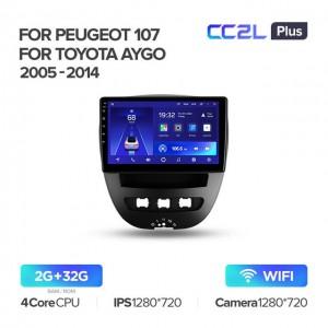 Штатная автомагнитола на Android TEYES CC2L Plus для Toyota Aygo 2005-2014