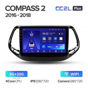 Штатная автомагнитола на Android TEYES CC2L Plus для Jeep Compass 2 MP 2016-2018
