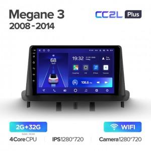 Штатная автомагнитола на Android TEYES CC2L Plus для Renault Megane 3 2008-2014