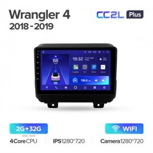 Штатная автомагнитола на Android TEYES CC2L Plus для Jeep Wrangler 4 JL 2018-2019