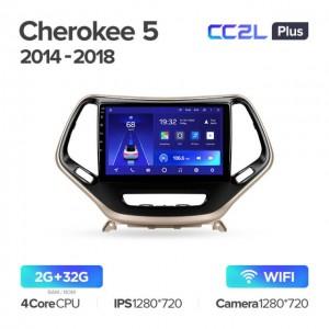 Штатная автомагнитола на Android TEYES CC2L Plus для Jeep Cherokee 5 KL 2014-2018