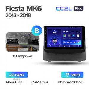 Штатная автомагнитола на Android TEYES CC2L Plus для Ford Fiesta Mk6 2009-2018 (Версия B)