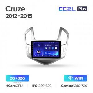 Штатная автомагнитола на Android TEYES CC2L Plus для Chevrolet Cruze J300 J308 2012-2015