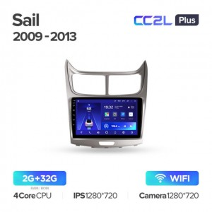 Штатная автомагнитола на Android TEYES CC2L Plus для Chevrolet Sail 2009-2013