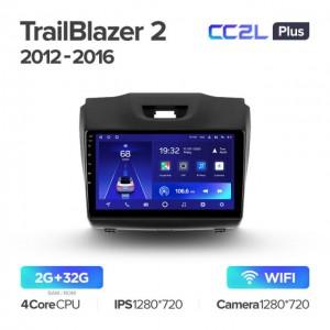 Штатная автомагнитола на Android TEYES CC2L Plus для Chevrolet TrailBlazer 2 S10 Colorado 2012-2016