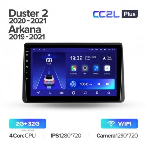 Штатная автомагнитола на Android TEYES CC2L Plus для Renault Duster HM 2 2020-2021, Arkana 1 2019-2021