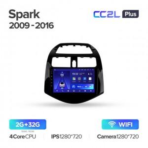 Штатная автомагнитола на Android TEYES CC2L Plus для Chevrolet Spark M300 2009-2016
