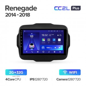 Штатная автомагнитола на Android TEYES CC2L Plus для Jeep Renegade 2014-2018