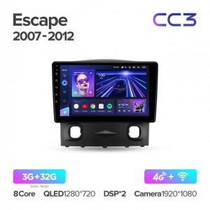 Штатная автомагнитола на Android TEYES CC3 для Ford Escape 2007-2012