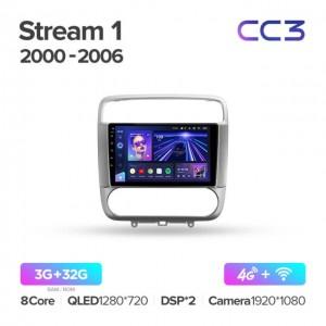 Штатная автомагнитола на Android TEYES CC3 для Honda Stream 1 2000-2006