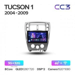 Штатная автомагнитола на Android TEYES CC3 для Hyundai Tucson 1 2004-2009