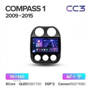 Штатная автомагнитола на Android TEYES CC3 для Jeep Compass 1 MK 2009-2015