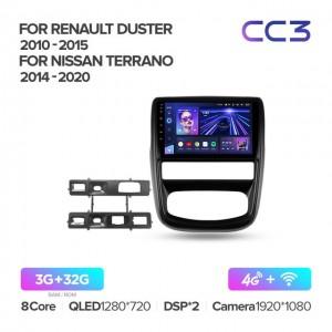 Штатная автомагнитола на Android TEYES CC3 для Renault Duster 1 2010-2015
