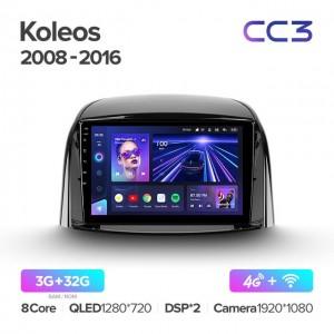 Штатная автомагнитола на Android TEYES CC3 для Renault Koleos 2008-2016