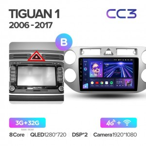 Штатная автомагнитола на Android TEYES CC3 для Volkswagen Tiguan 1 NF 2006-2016 (Версия B)
