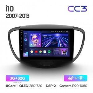 Штатная автомагнитола на Android TEYES CC3 для Hyundai i10 2007-2013