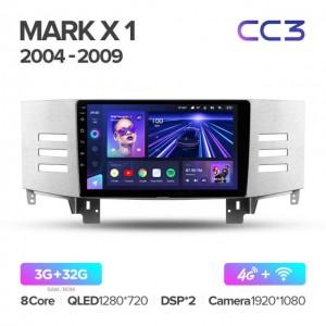 Штатная автомагнитола на Android TEYES CC3 для Toyota Mark X 1 X120 2004-2009