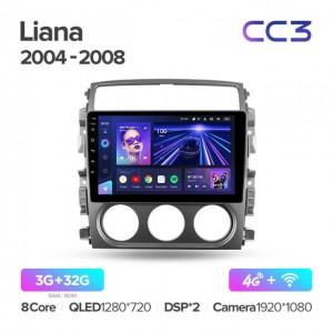 Штатная автомагнитола на Android TEYES CC3 для Suzuki Liana 1 2004-2008