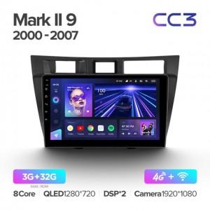 Штатная автомагнитола на Android TEYES CC3 для Toyota Mark II 9 X100 2000-2007