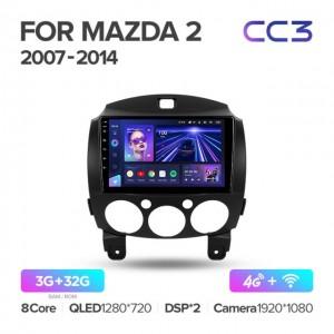 Штатная автомагнитола на Android TEYES CC3 для Mazda 2 DE 2007-2014