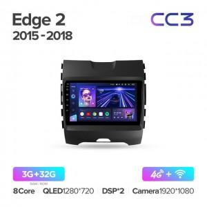 Штатная автомагнитола на Android TEYES CC3 для Ford Edge 2 2015-2018