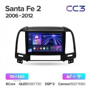 Штатная автомагнитола на Android TEYES CC3 для Hyundai Santa Fe 2 2006-2012
