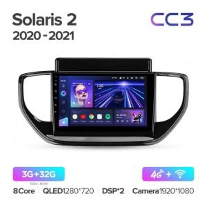 Штатная автомагнитола на Android TEYES CC3 для Hyundai Solaris 2 II 2020-2021