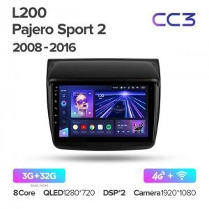 Штатная автомагнитола на Android TEYES CC3 для Mitsubishi Pajero Sport 2 L200 Triton 2008-2016
