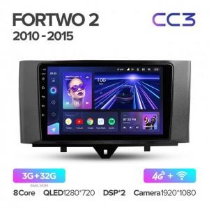 Штатная автомагнитола на Android TEYES CC3 для Mercedes-Benz Smart Fortwo 2 2010-2015