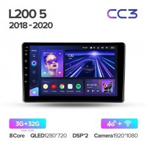 Штатная автомагнитола на Android TEYES CC3 для Mitsubishi L200 5 2018-2020