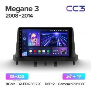 Штатная автомагнитола на Android TEYES CC3 для Renault Megane 3 2008-2014