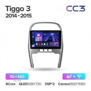 Штатная автомагнитола на Android TEYES CC3 для Chery Tiggo 3 2014-2015