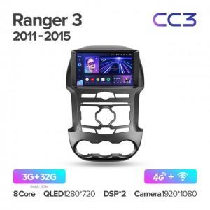 Штатная автомагнитола на Android TEYES CC3 для Ford Ranger 3 2011-2015
