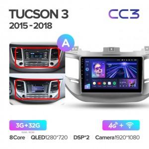 Штатная автомагнитола на Android TEYES CC3 для Hyundai Tucson 3 2015-2018 (Версия А)