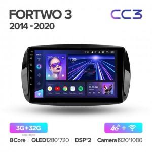 Штатная автомагнитола на Android TEYES CC3 для Mercedes-Benz Smart Fortwo 3 C453, A453, W453 2014-2020