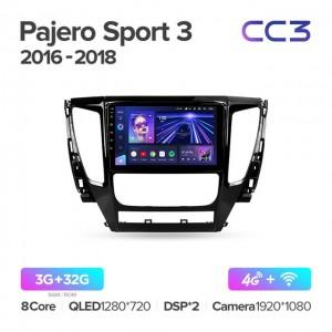 Штатная автомагнитола на Android TEYES CC3 для Mitsubishi Pajero Sport 3 2016-2018