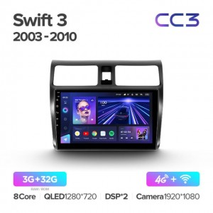 Штатная автомагнитола на Android TEYES CC3 для Suzuki Swift 3 2003-2010